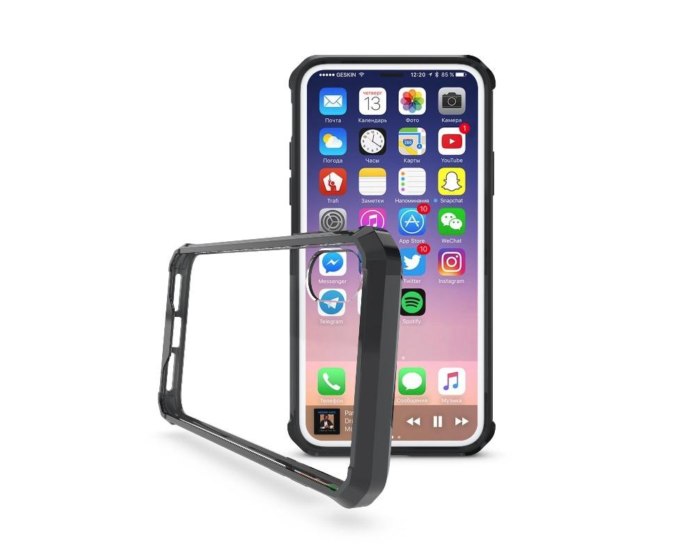 iPhone X クリア 耐衝撃カバー