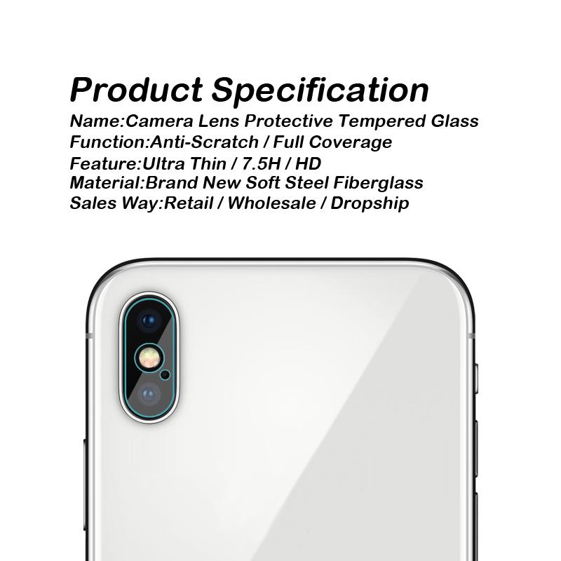 アイフォン X カメラレンズ 強化ガラス