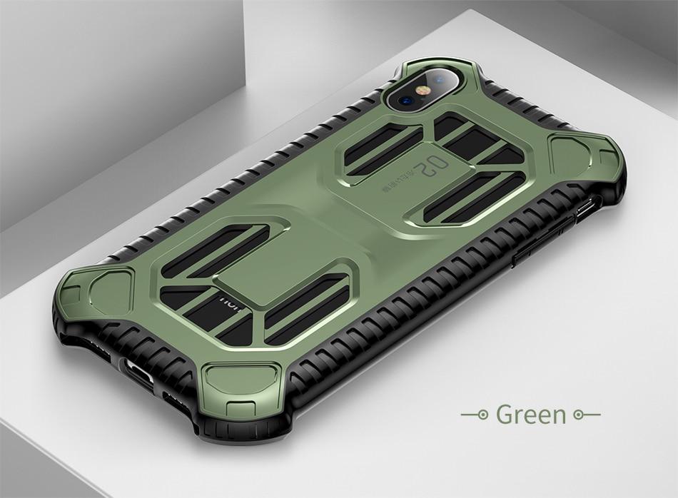iPhone XR クリア 耐衝撃カバー
