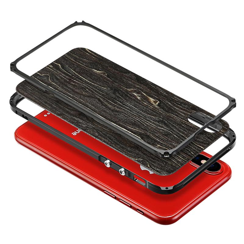 iPhone Xs 木製アルミケース