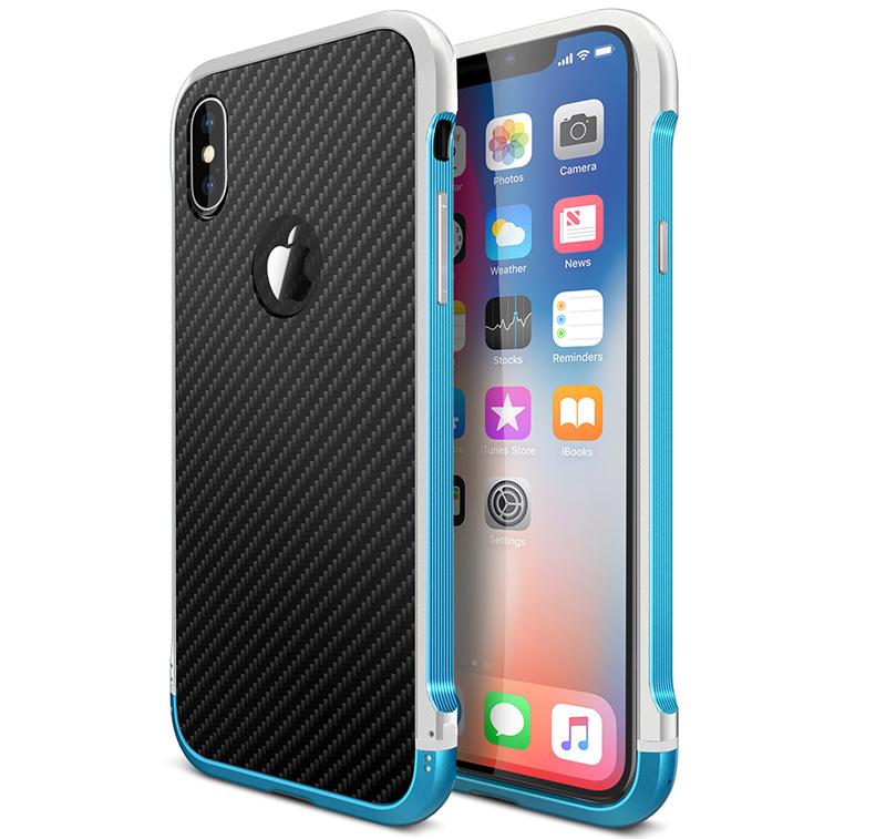 iPhone X タフ アルミバンパー