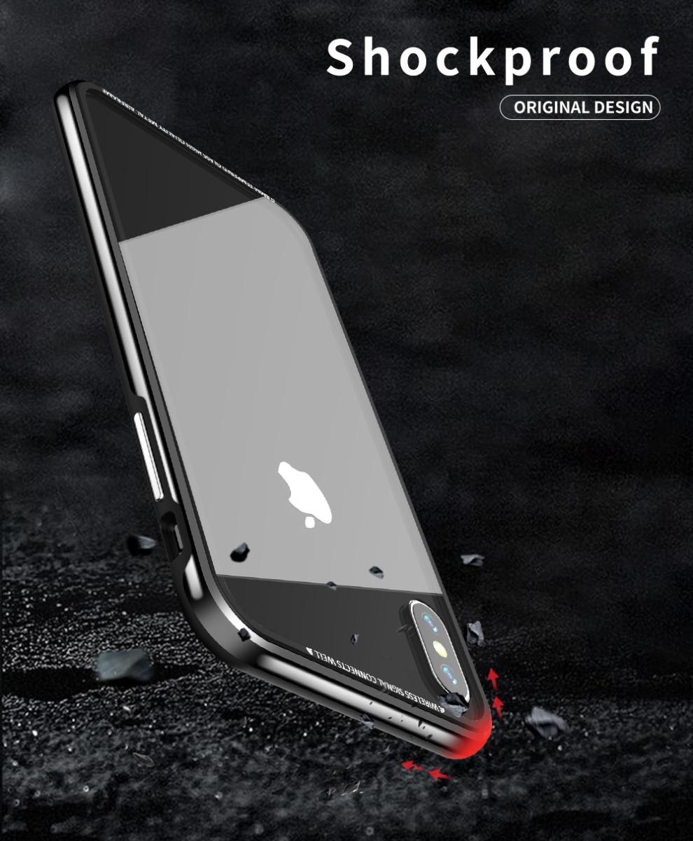 iPhone XS Max アルミバンパー 背面パネル