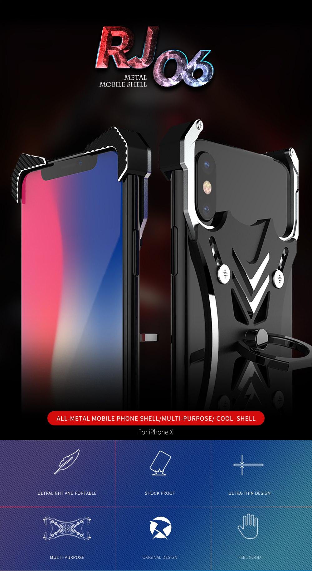 iphone XS メタルフルカバー