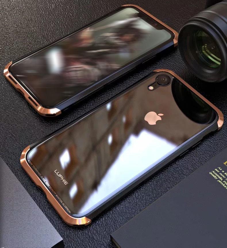 iPhone XR アルミバンパー 背面パネル