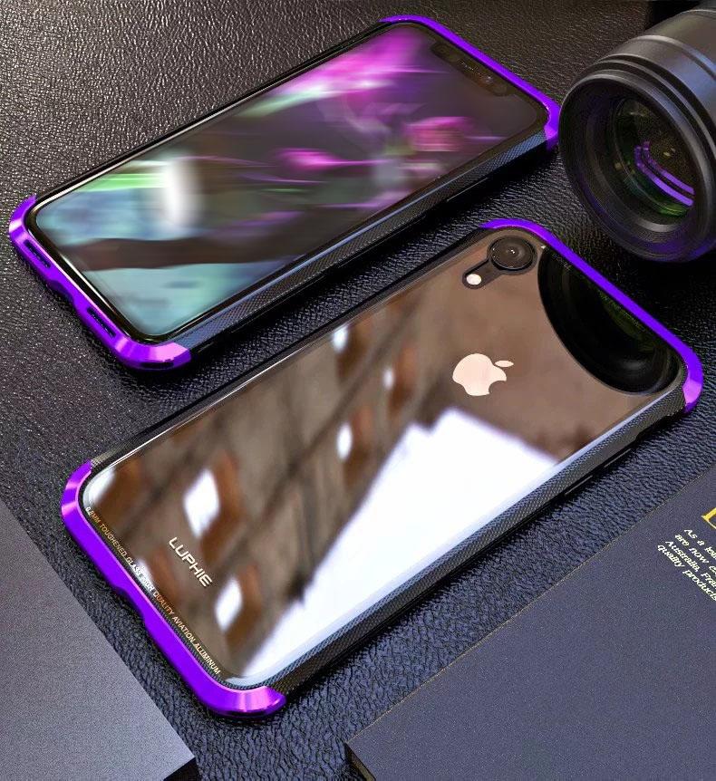 iPhone XR カーボン メタル ケース