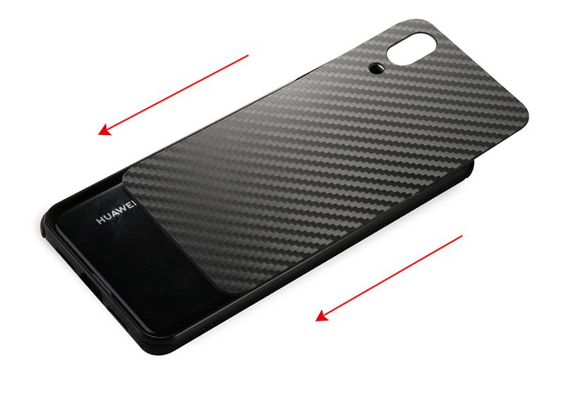 Huawei P20 lite 耐衝撃 カーボン メタル